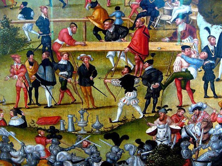 Photo Die Melancholie im Garten des Lebens, 1558. By Matthias Gerung. The painting