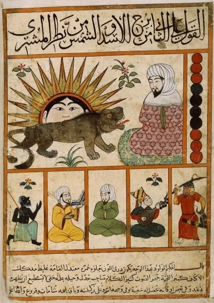 Photo Kitab al-Mawalid, Egyptian copy from the 1300s likely made by Persian illustrator, based on astrological treatise from the 900s.