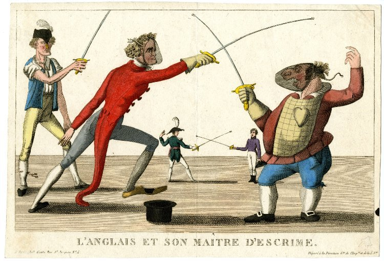 Photo A fat Englishman (right), much caricatured and wit