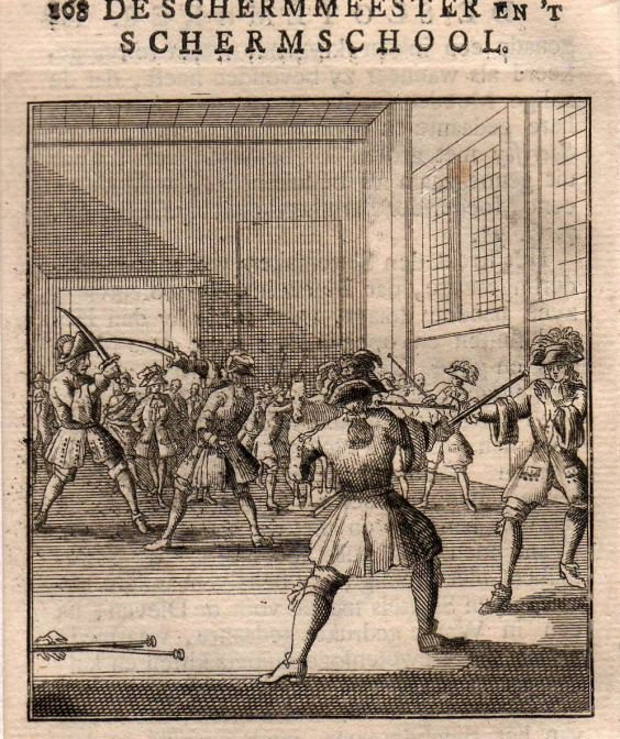 Photo De Schermmeister En t Schermschool 1745