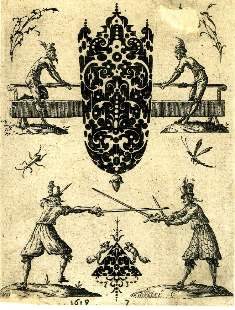 Photo Design for hilt in blackwork Jean Toutin, 1619 htt
