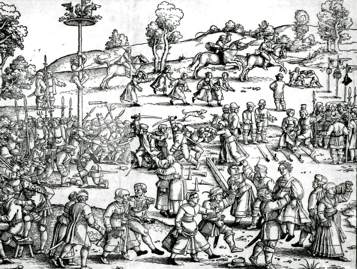 Photo Detail from an engraving depicting a Peasant s Fes
