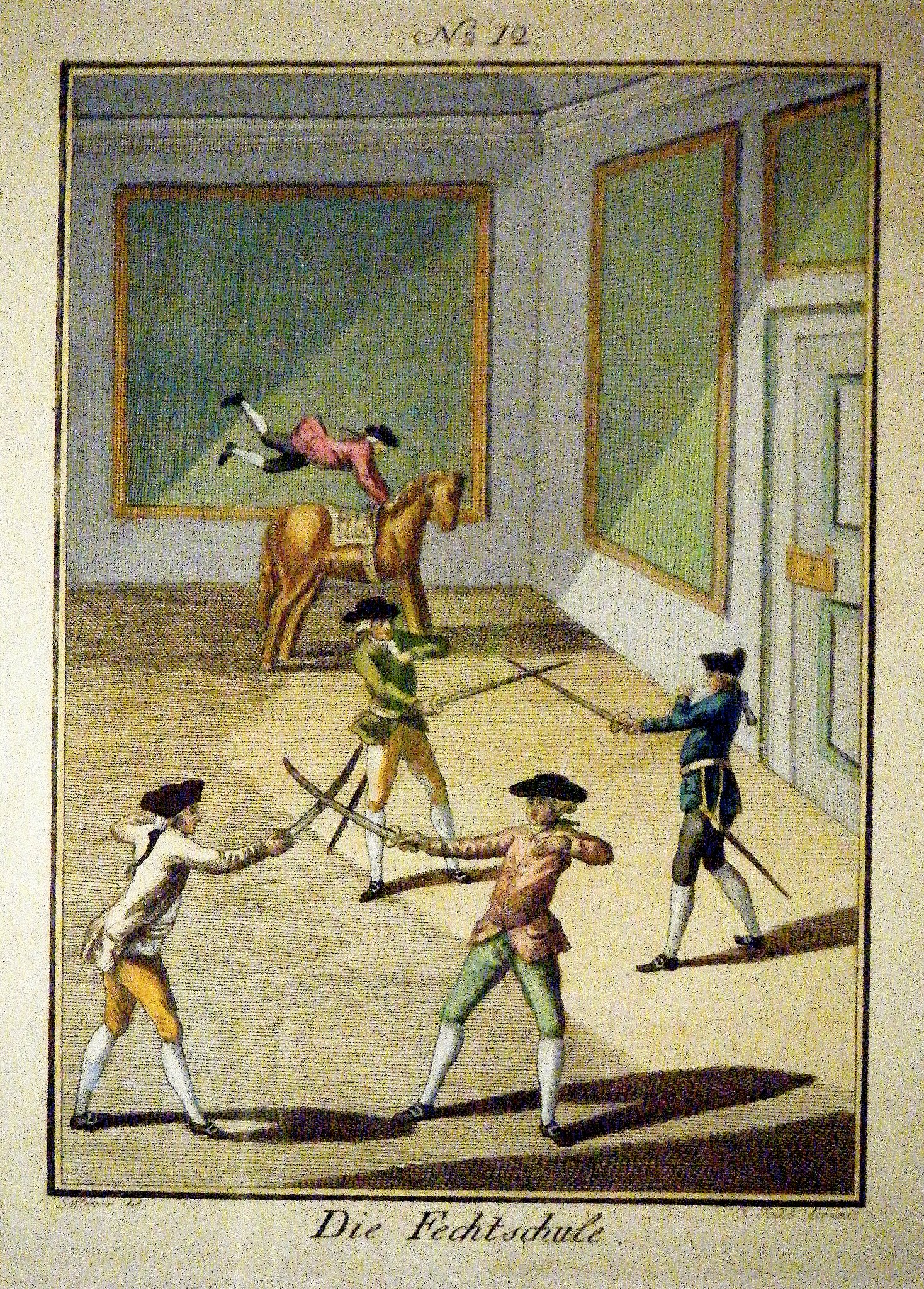 Photo Die Fechtschule A print from 1796 Compare to the p