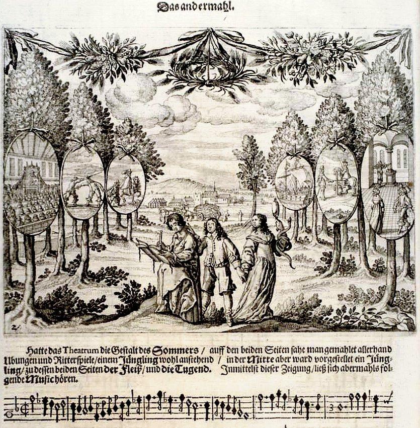 Photo Glückwünschende Freudendarstellung 1653 The book w