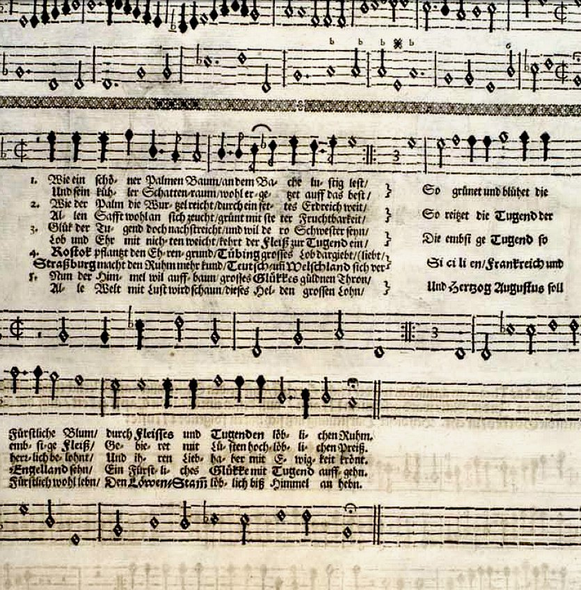 Photo Glückwünschende Freudendarstellung 1653 The text t