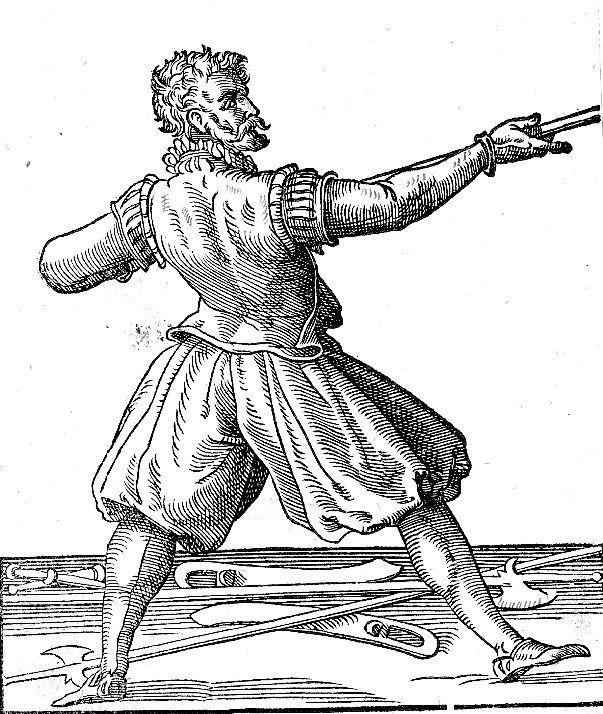 Photo Jost Amman Fechter mit Halben Stangen 1578