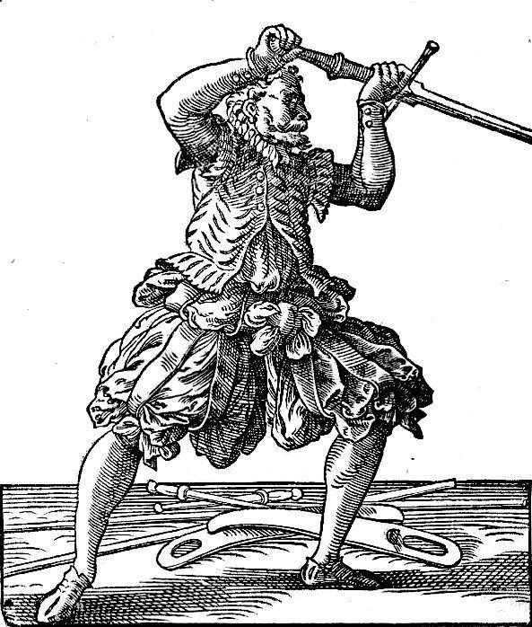 Photo Jost Amman Fechter mit Schwert 1578