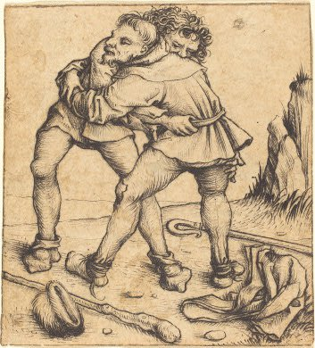 Photo Master of the Housebook Two Peasants Fighting, c 1