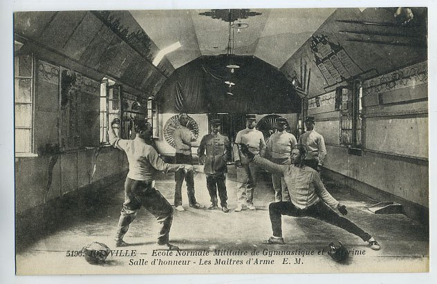 Photo Military School postcard 1910
