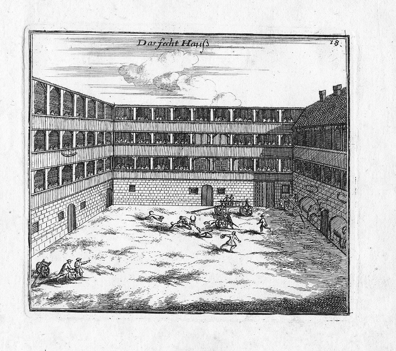 Photo Noruega, Fechthaus auf der Scütt (engraving from 1