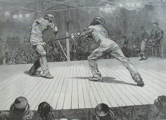 Photo Sabre vs Bayonet Harper s Weekly, 1873