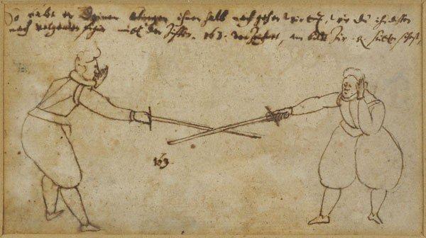 Photo Sketch for Jakob Sutor s Künstliches fechtbuch fro