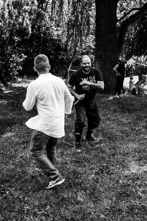 Sparring against Italian knife tradition in Florence, Italy