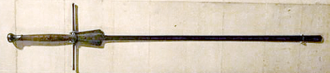 The 2nd fechtschwert kept at the Castle Arundel.