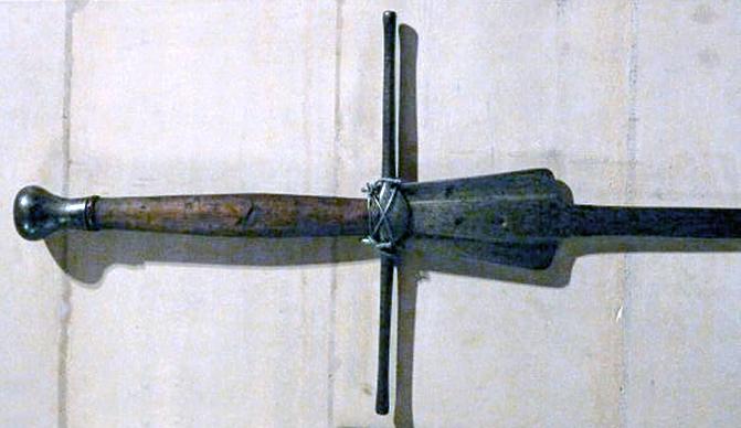 The hilt of the 2nd fechtschwert kept at the Castle Arundel.