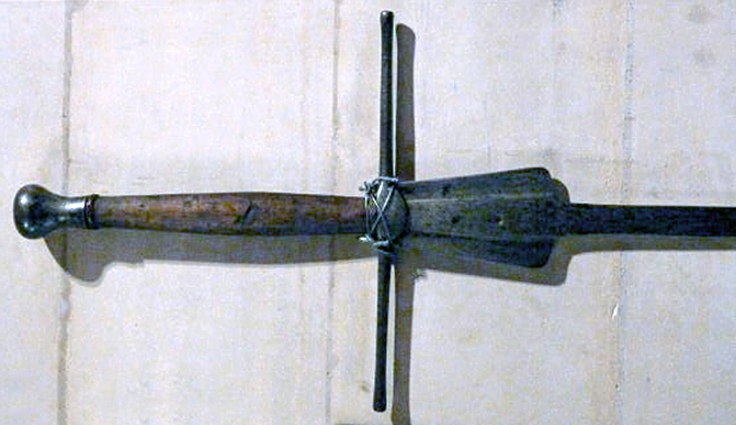 The hilt of the 2nd fechtschwert kept at the Castle Arundel.