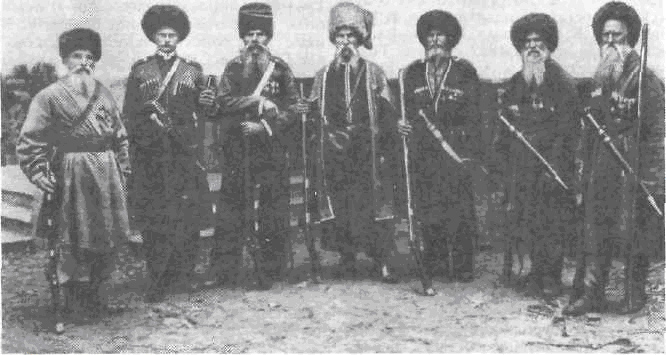 Cossacks from the Kuban region of Russia, whose practices were described in the passage above