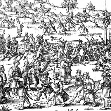 beham-peasants-festival-1535 (The Dussack – a weapon of war)