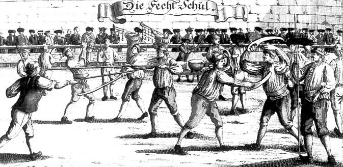 """Die Fechtschul"", from ca 1726-1750."