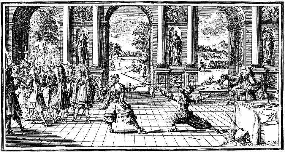 Fencing at court