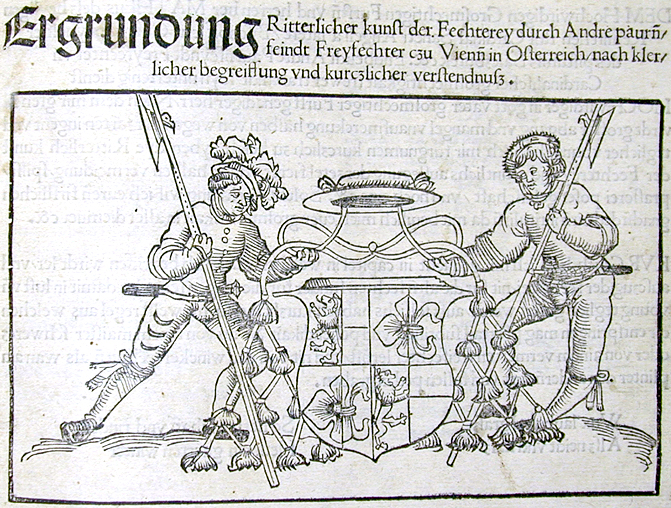 From Paurenfeyndt's treatise of 1516, the first known  printed fencing treatise