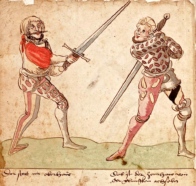Standing in the Zornhauw (right), as taught by Wilhalm in 1523