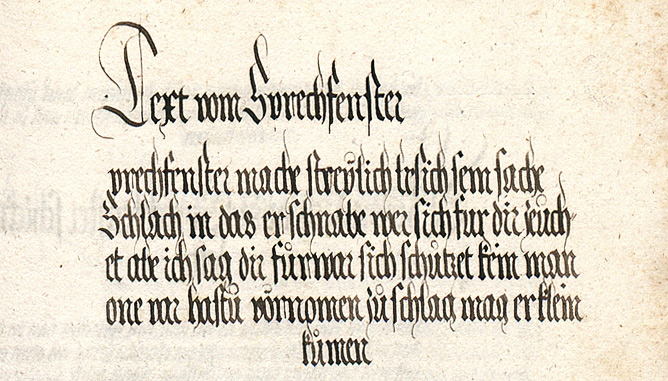 Prechfenster in the Goliath Fechtbuch of ca 1510-20.