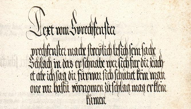 Prechfenster in the Goliath Fechtbuch of ca 1510-20.