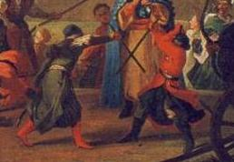 Fightng with a stick (Martino Altomonte)