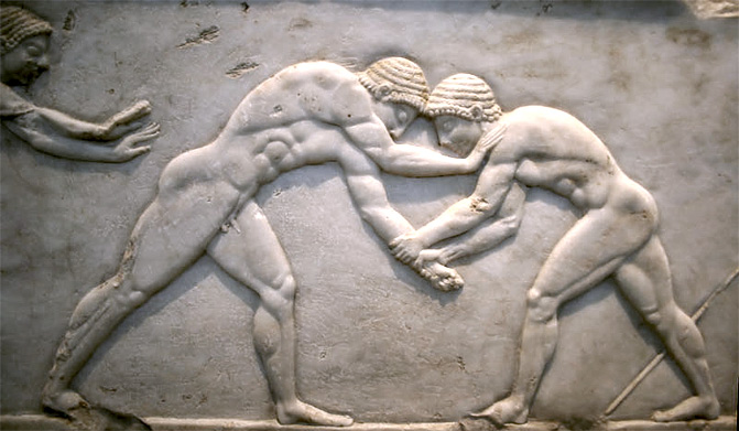 Ancient Greek wrestlers