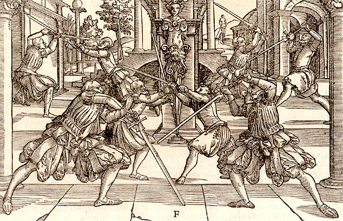 Fechtschwerter from Joachim Meyer's treatise of 1570.