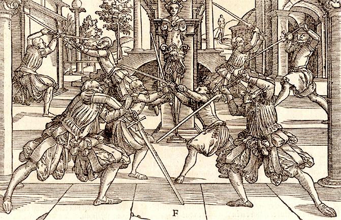 Fechtschwerter from Joachim Meyer's treatise of 1570.