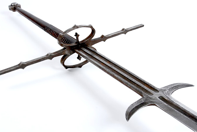 Twohanded Schlachtschwert, commonly used by Landsknechten in the late 1400s/1500s