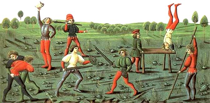 15th and 16th century Italian wrestling analogies