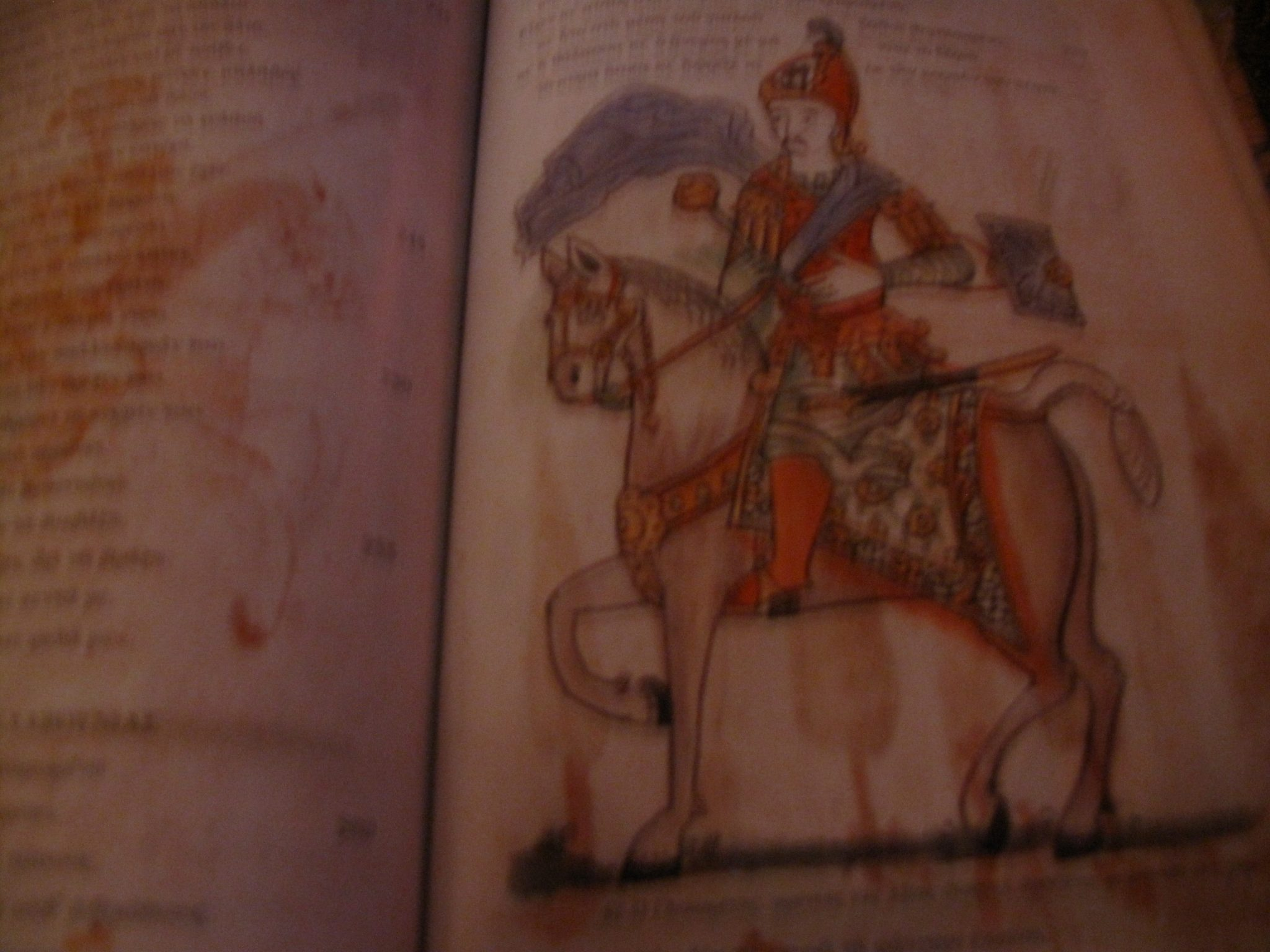 p.57r Glikaretos,lord of Axias (Naxos island) with a mace and a small shield at his hand.
