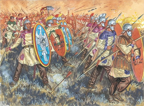Phalanx of Eastrern Roman Empire at the reign of Justinian the Great.