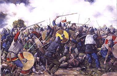 Saxon's shield wall.