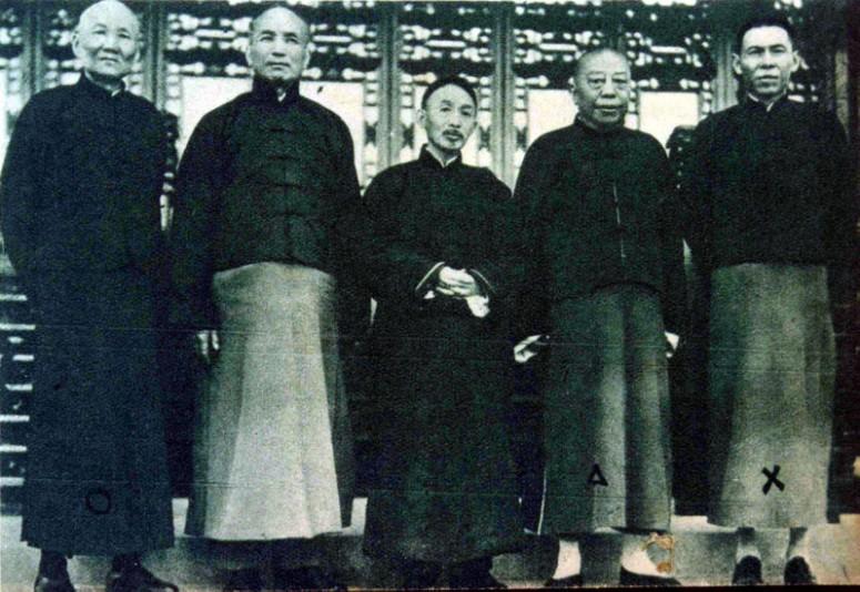 The Green Gang Triad, led by 'Big Ears' Du Yuesheng (far right)