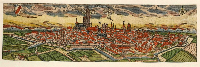 Straßburg, 1580, as it would have looked in Meyer's time.