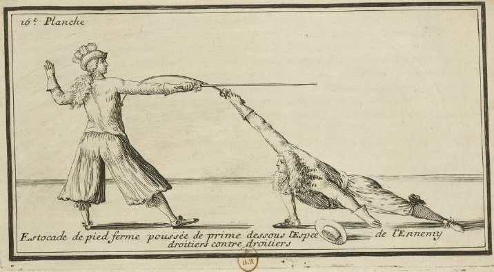 Flexible foil from Latouche, 1670