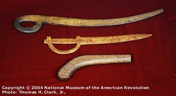 American Officer's wooden sabres, 1700s.
