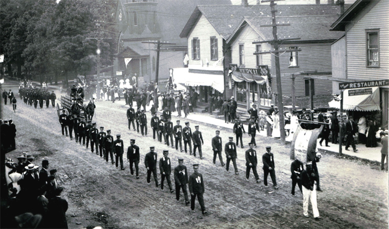 Parade in Franklinville, July 3, 1909