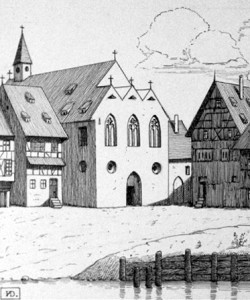 """The """"backside"""" of St Guillaume church where Meyer married his wife Appolonia in 1560"""
