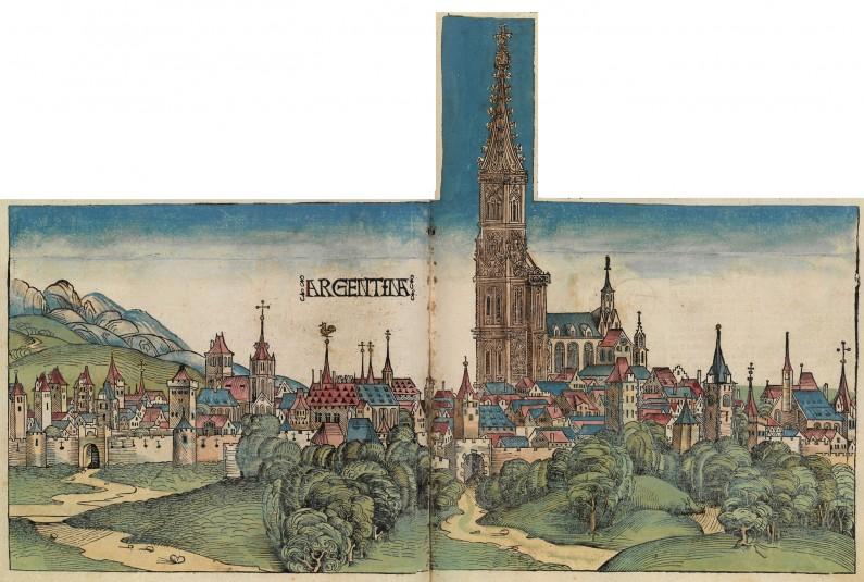 The Münster Cathedral in 1493, then the world's tallest building.