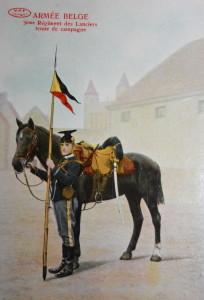 Belgian Lancer, third regiment Source: Préaux Frères collection J. de Faudeur