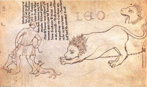 Villard-De-Honnecourt-Lion-drawn-from-life-2-