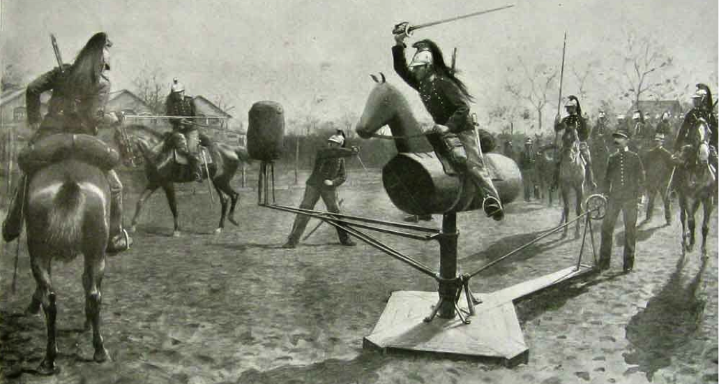 French cavalry training in Nantes Source: The Illustrated London News (1901)