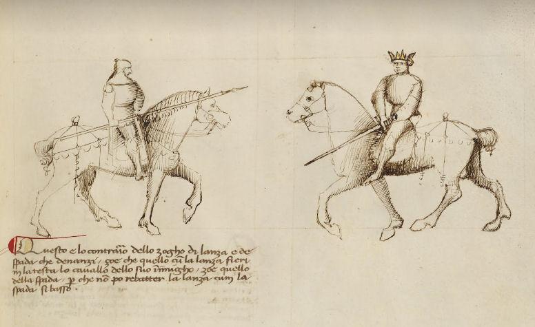 Gaited horses in Fiore's manuals?