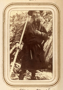 "Nils Pålsson ""means less"", 36 years. Sami from Tuorponen, Norway. From Lotten von Düben's photos from ethnological expedition to Samiland, 1868."