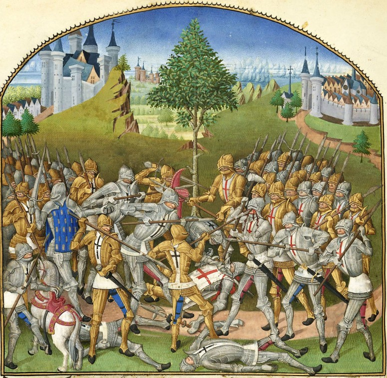 The Combat of the Thirty, from one of the 15th Century editions of Froissart's Chronicles